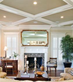 lighted-coffered-ceiling-living-room-traditional-with-recessed-lighting-black-wall-shelves
